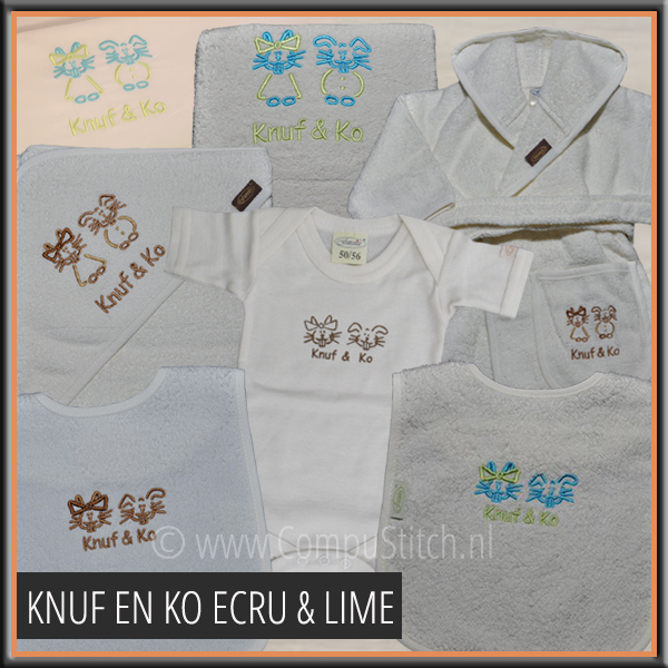 COLLECTIE IKKE ECRU EN LIME